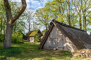 Historische Gebäude in Wilsede